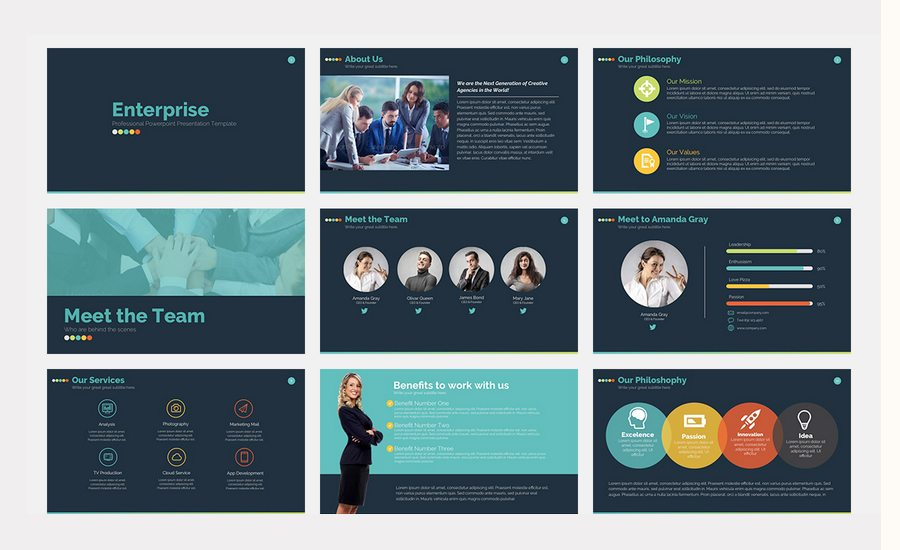 Beautiful Premium Powerpoint Presentation Templates  Design