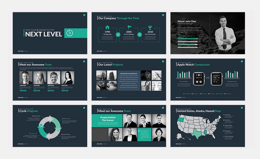 Stylish free powerpoint templates forecast dress in on every day in 2019