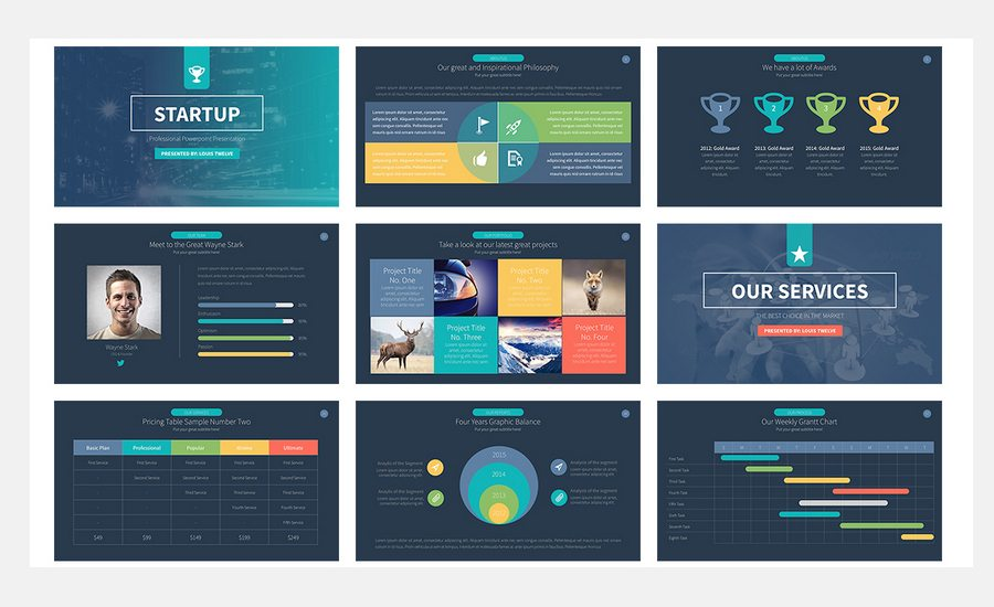 60 beautiful premium powerpoint presentation templates design shack startup powerpoint template is a new fresh modern clean professional ready to use business presentation this presentation includes 900 icons as toneelgroepblik Image collections