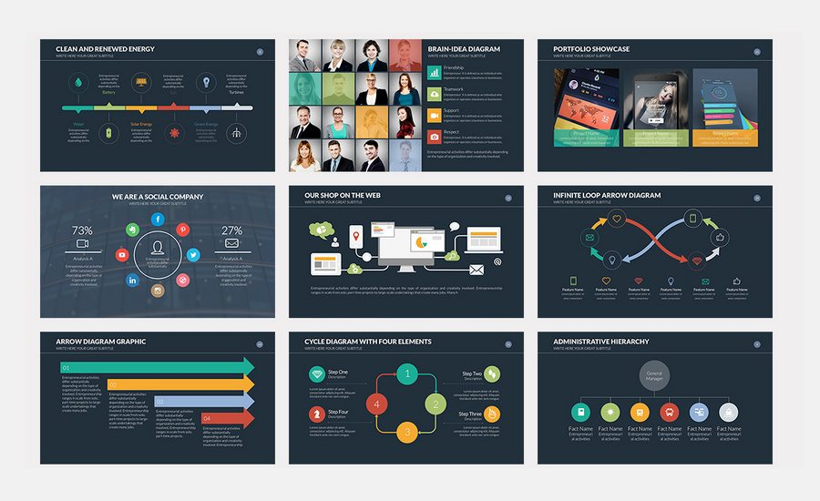 Impress Your Audience With This Awesome PowerPoint Presentation Template.  Innovation Was Designed With A Great Selection Of Slides Fully Editable, ...