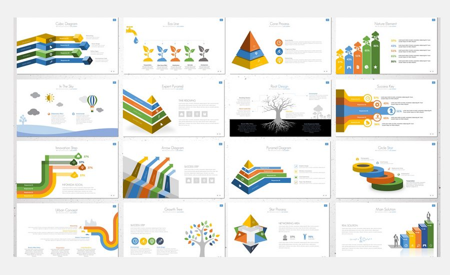 60 beautiful premium powerpoint presentation templates design the report presentation template has 28 files with 150 unique slides in addition it contains 14 total color schemes in 2 background variations dark and toneelgroepblik Image collections