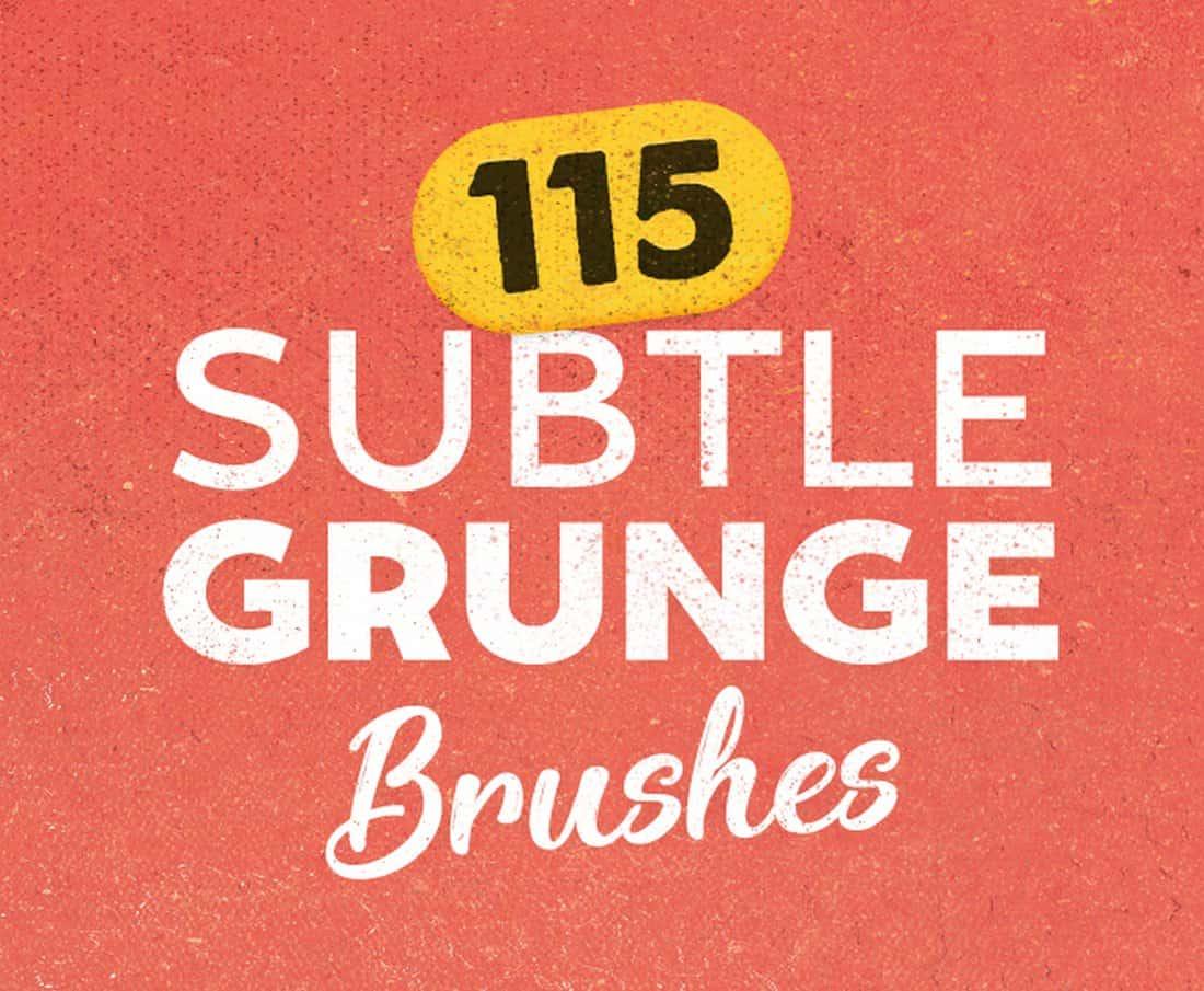 115 FREE Subtle Grunge Brushes