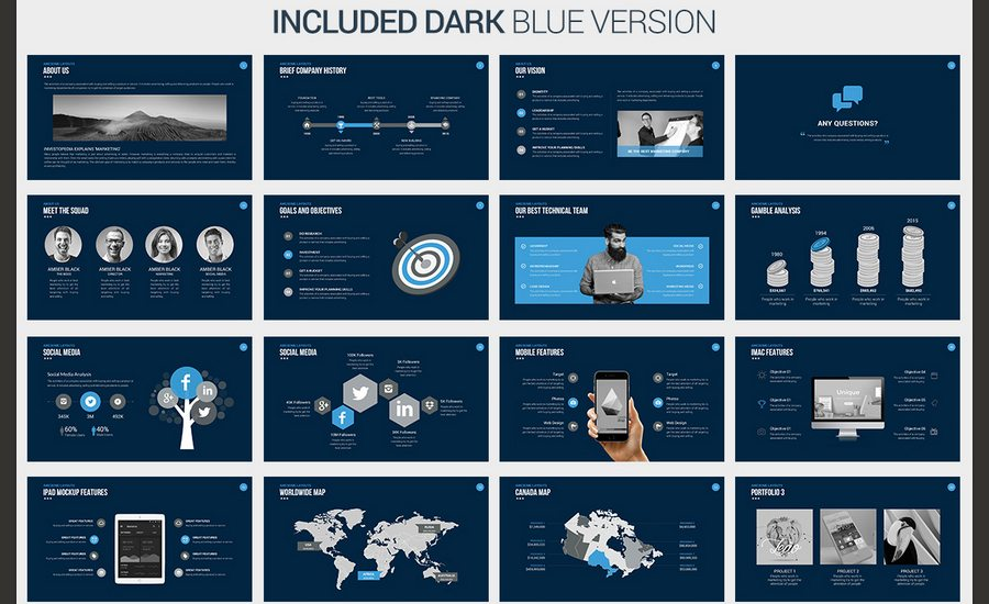 60 beautiful premium powerpoint presentation templates for Most professional powerpoint template