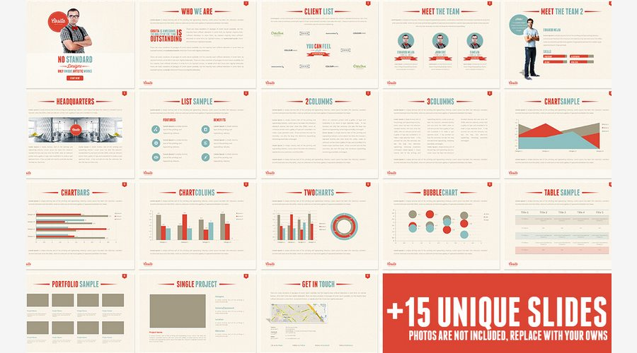 60 beautiful premium powerpoint presentation templates design shack a modern handcrafted and creative presentation special for a agencygraphic design artist easy to change colors text photos fully editable toneelgroepblik Image collections