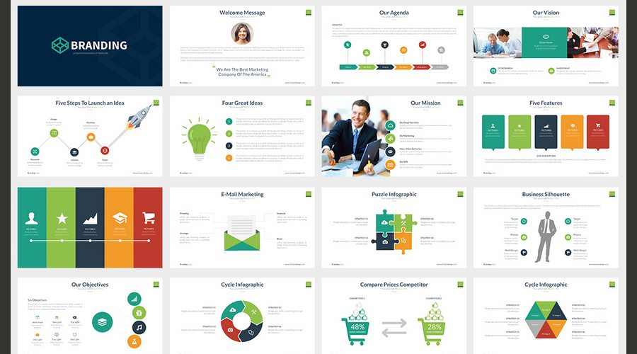 60 beautiful premium powerpoint presentation templates design shack branding powerpoint template is a professional clean and creative presentation to show your business all elements are fully editable from a shape to toneelgroepblik Image collections