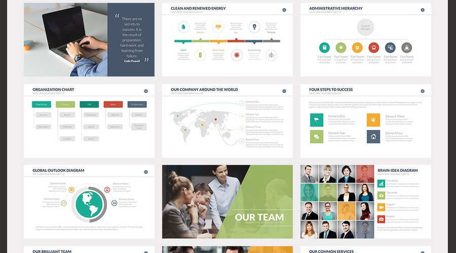 60+ beautiful, premium powerpoint presentation templates | design, Presentation templates