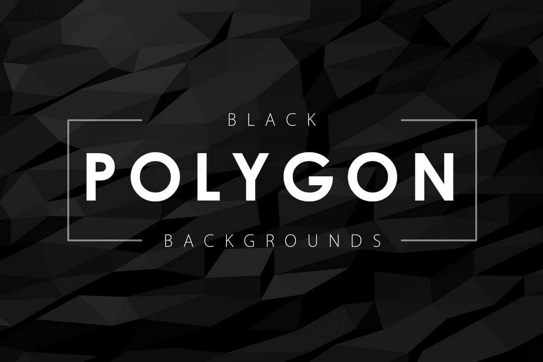12-Black-Polygon-Backgrounds 20+ Black Texture Background Graphics design tips