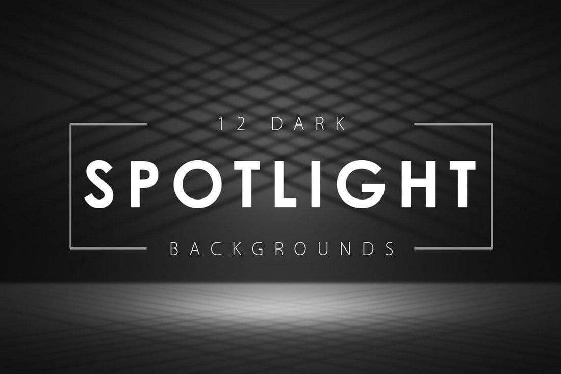 12-Dark-Spotlight-Backgrounds 20+ Black Texture Background Graphics design tips