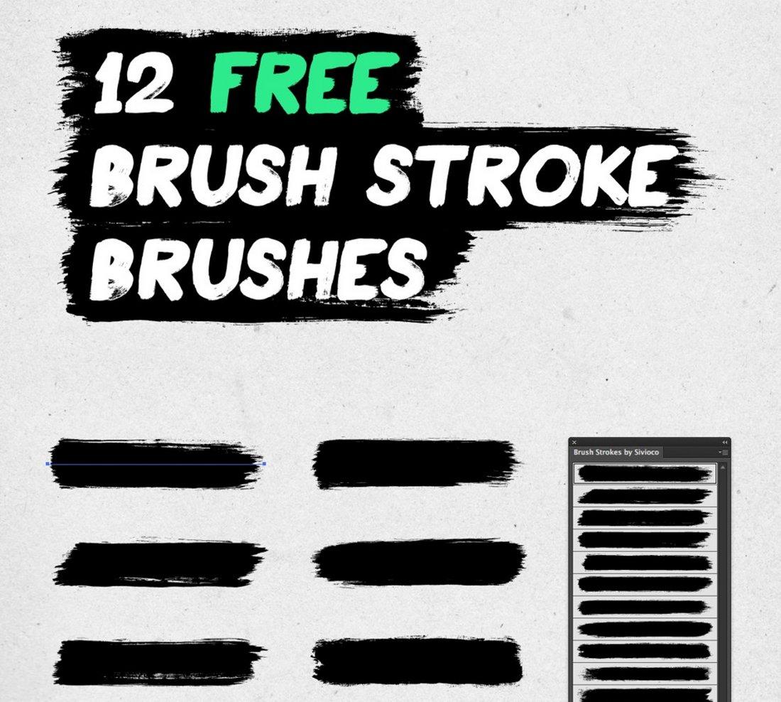 12-Free-Brush-Stroke-Illustrator-brushes 25+ Best Free Adobe Illustrator Brushes 2021 design tips