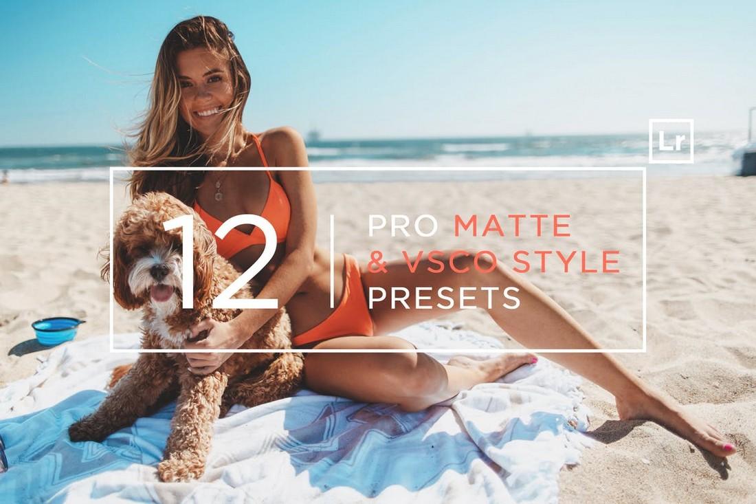 12 Pro Matte VSCO Lightroom Presets