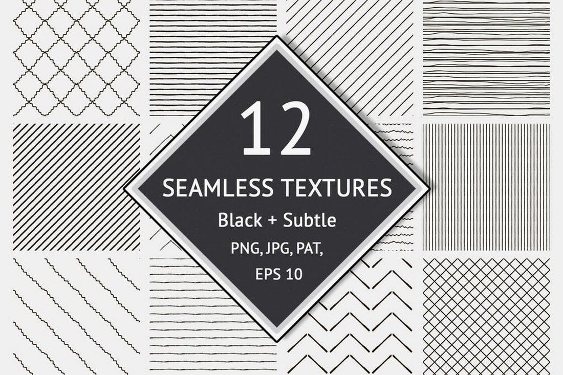 12-Seamless-Textured-Patterns 30+ Best Line Patterns & Textures design tips