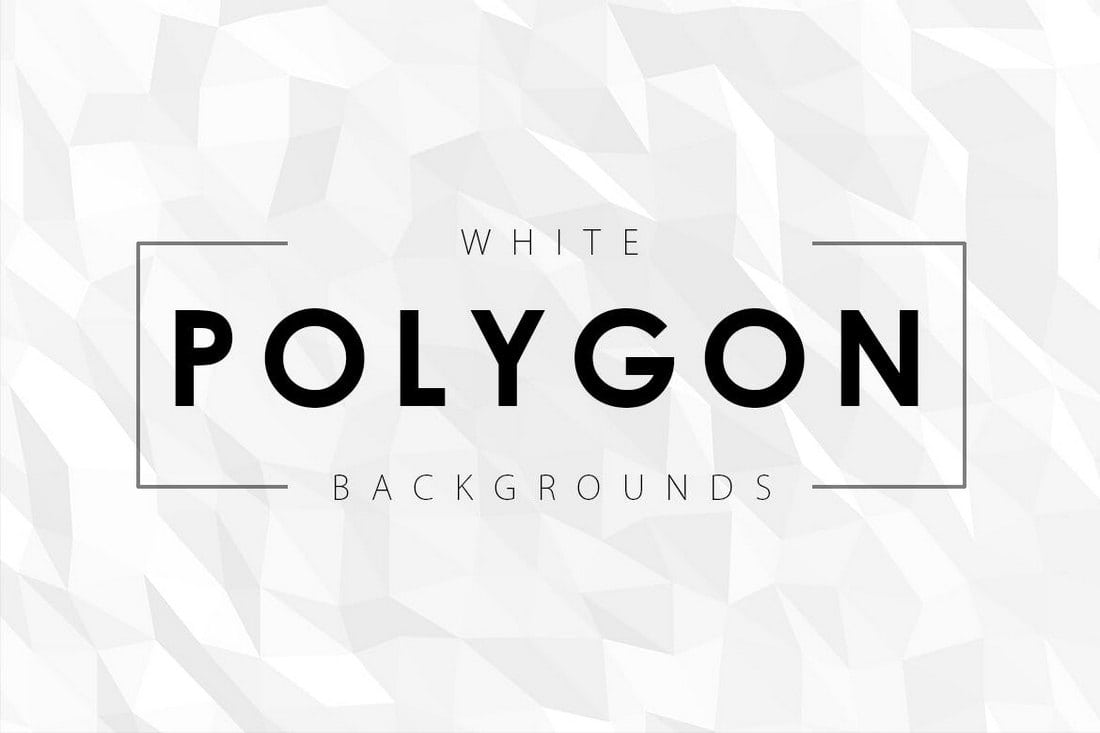 12 White Polygon Backgrounds
