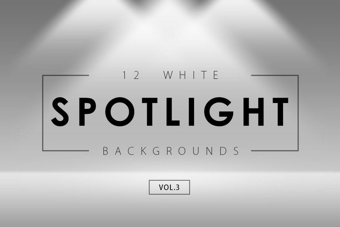 12 White Spotlight Backgrounds 3