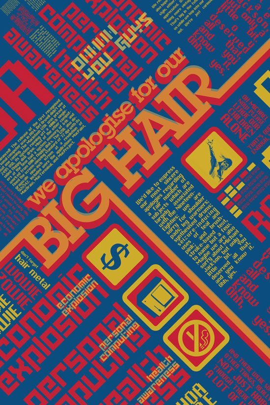 12.-big-hair-by-Jandalf Typographic Posters: 100 Stunning Examples design tips