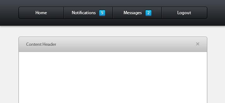 freebie html css admin toolbar ui layout template