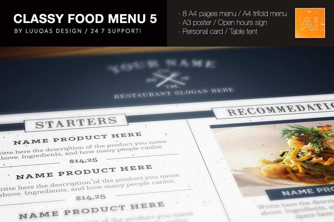 14-15 50+ Best Food & Drink Menu Templates design tips