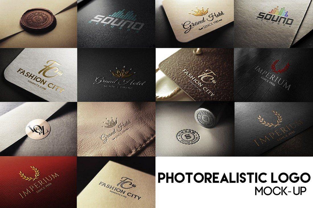 14-Photorealistic-Logo-Mockups 100+ Logo Mockup Templates (PSD & Vector) design tips