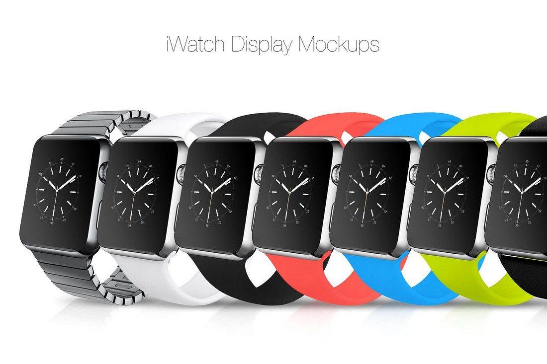 14-iWatch-Display-Mockups 50+ Apple Watch Mockups & Graphics design tips