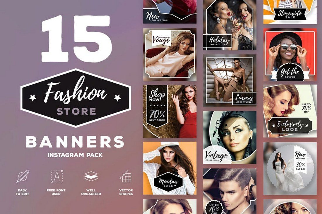 15-Fashion-Instagram-pack 30+ Best Instagram Templates & Banners design tips