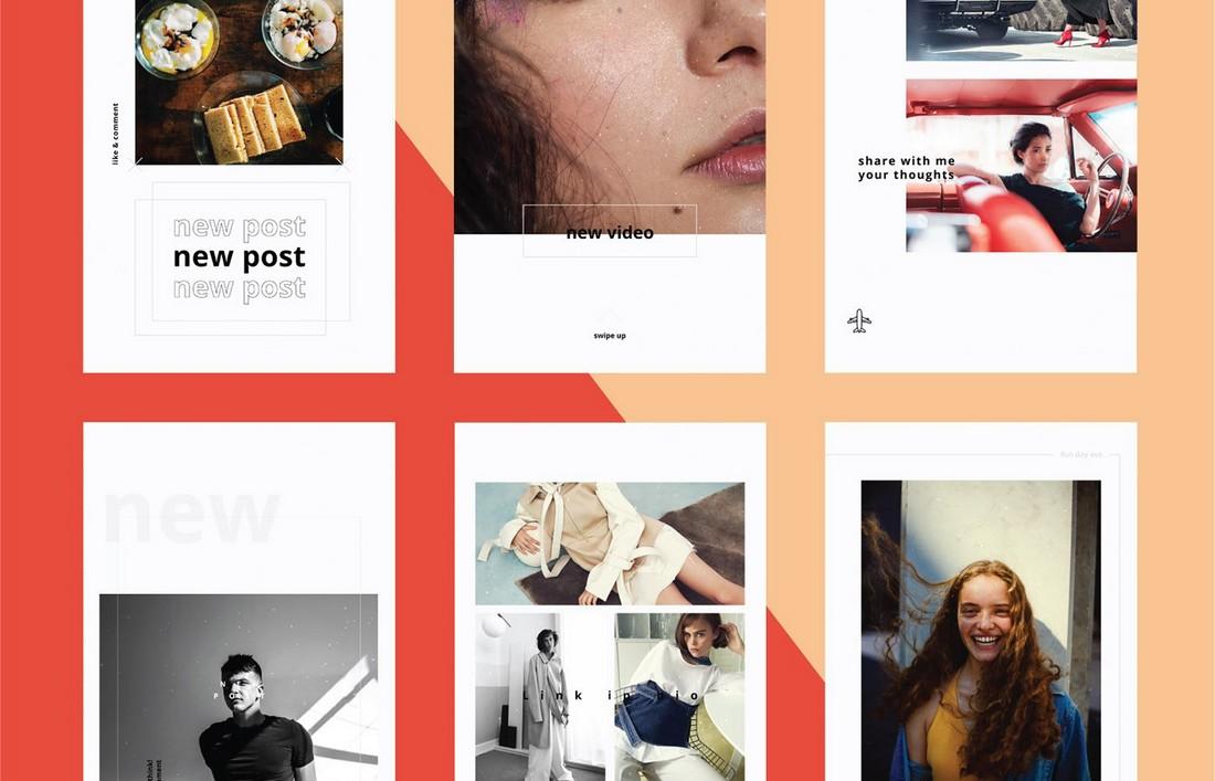 15 Free Clean Instagram Stories Templates