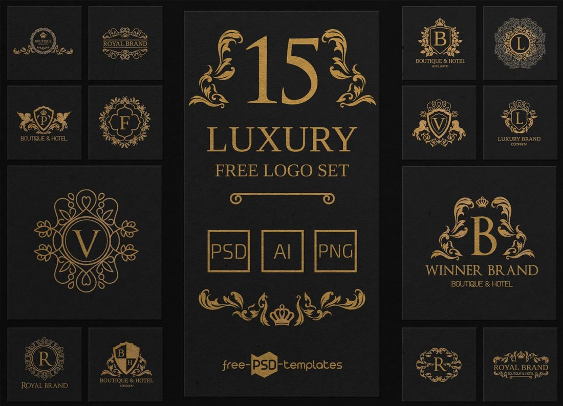 15 Free Luxury Logo Templates