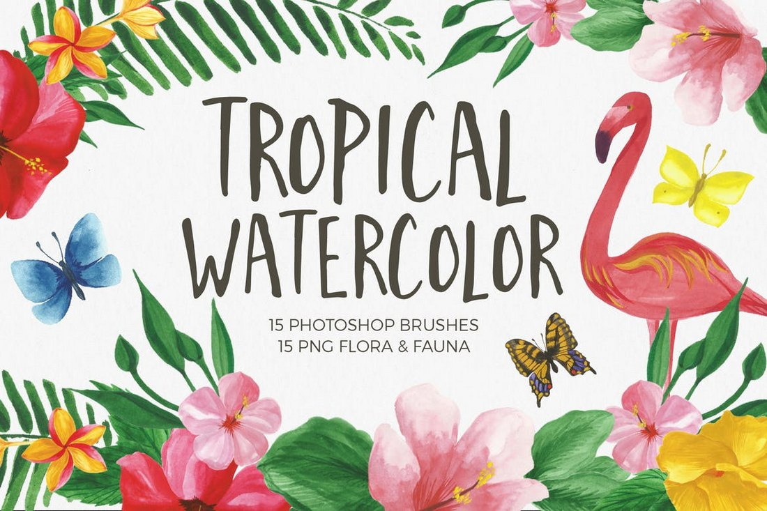 15 Photoshop Watercolor Brushes