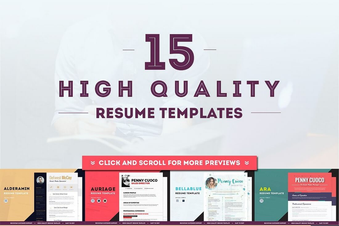 15 resume templates ultra bundle - Resume Templates For Designers