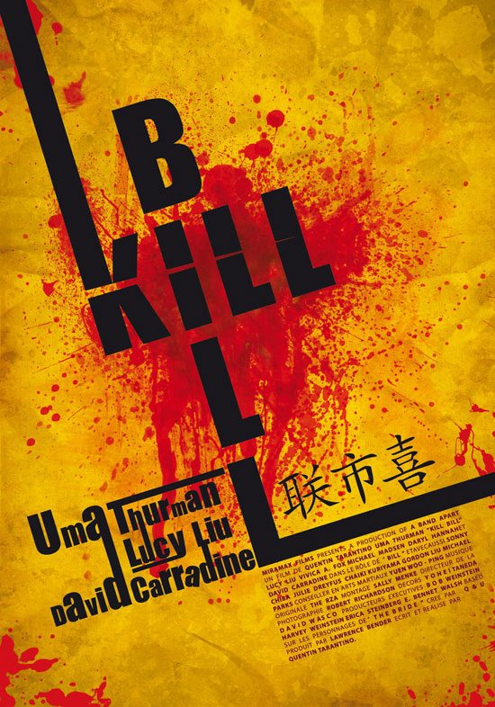 15.-Kill-Bill-Typographic-Poster-by-samextremo Typographic Posters: 100 Stunning Examples design tips