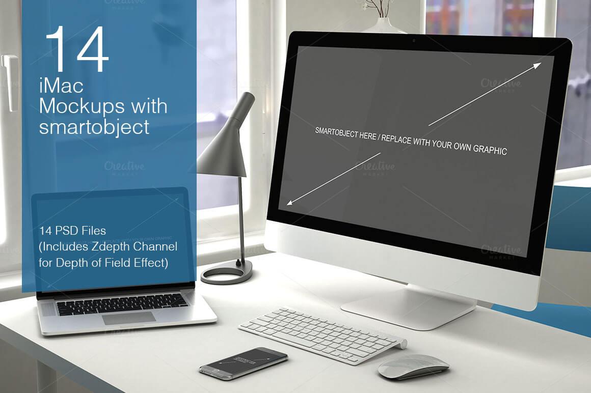 16-14 40+ iMac Mockup PSDs, Photos & Vectors design tips