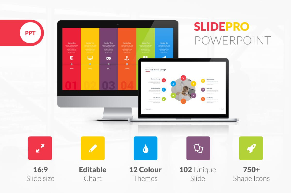 Photo slideshow powerpoint template