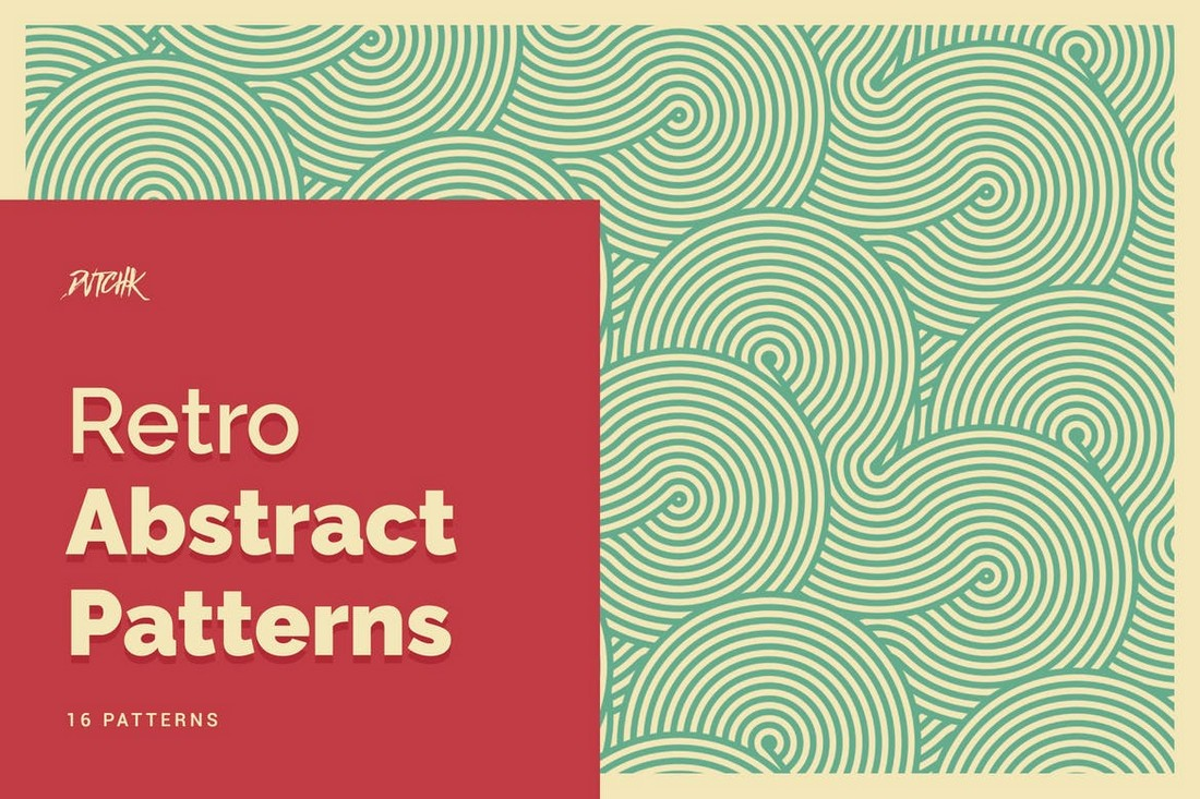 16 Abstract Retro Seamless Patterns