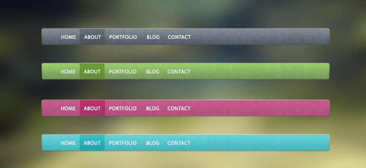 trendy navigation bar interface psd freebie