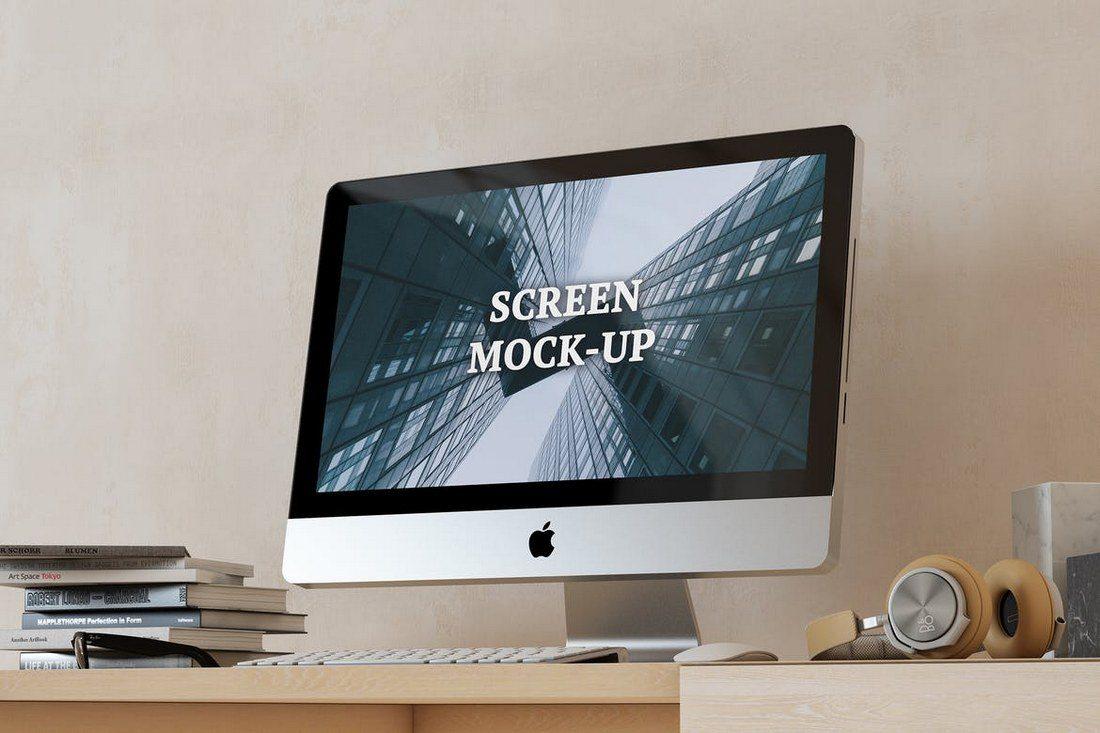 16x9-Screen-Mock-Up-Set-2 40+ iMac Mockup PSDs, Photos & Vectors design tips