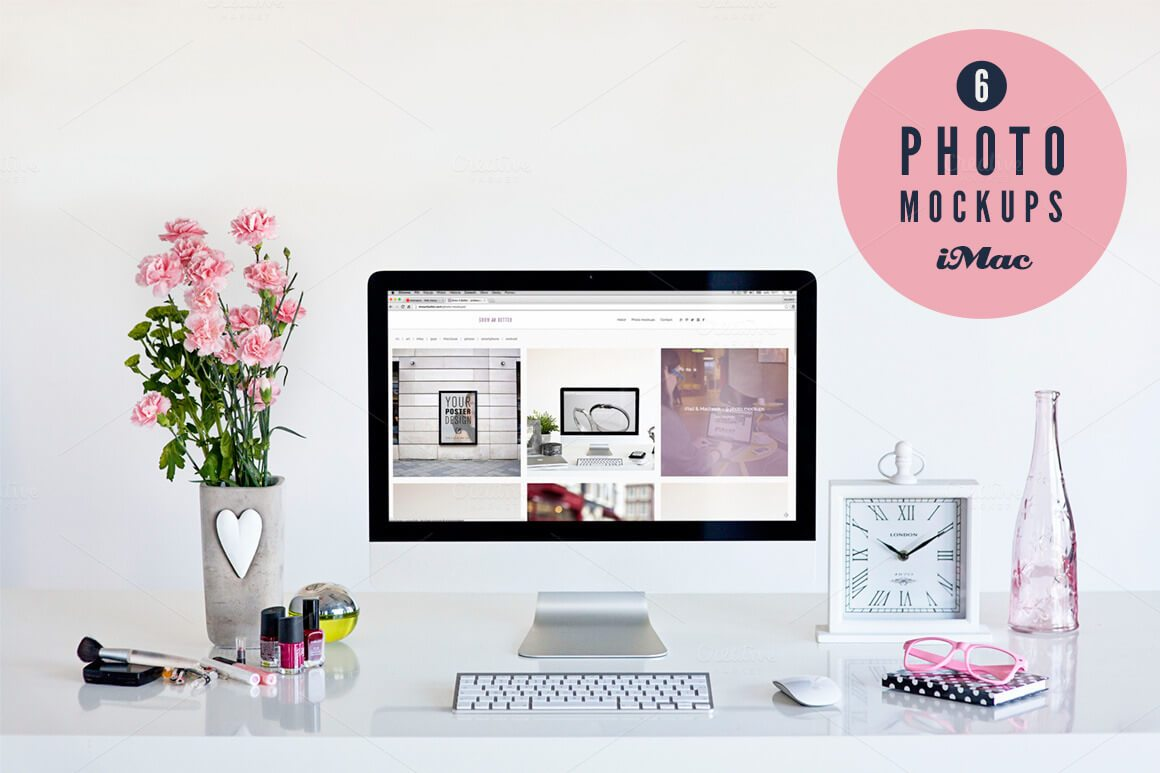 18-11 40+ iMac Mockup PSDs, Photos & Vectors design tips