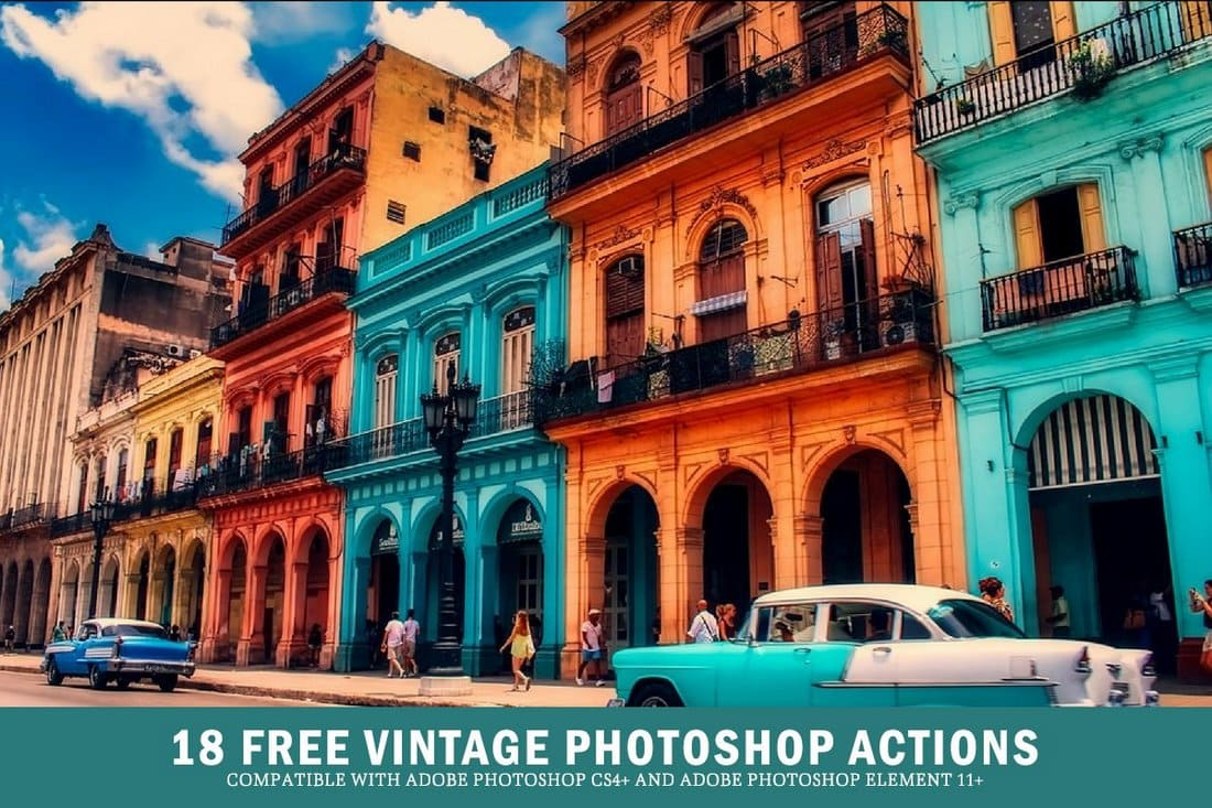 18 Free Vintage Photoshop Actions