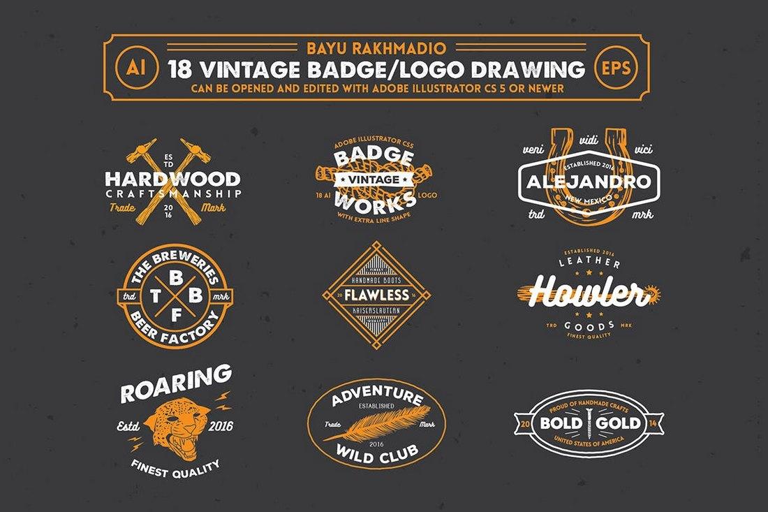 18-Hipster-Vintage-Sign-Templates 20+ Best Sign Templates & Mockups design tips