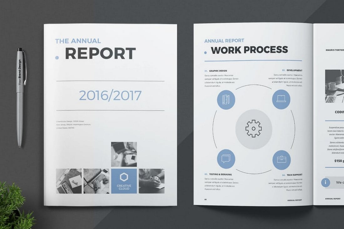 18-Page-Annual-Report-Template 20+ Annual Report Templates (Word & InDesign) 2018 design tips