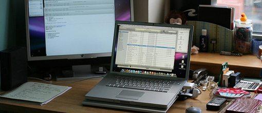 Macbook Pro work desk