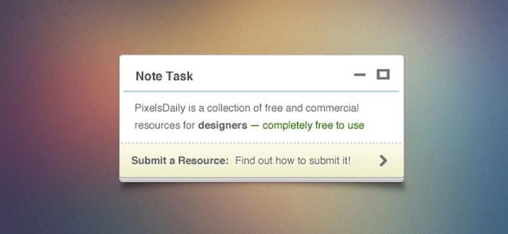 tiny note freebie psd download pixelsdaily