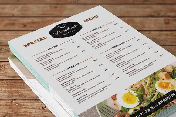 19-10 50+ Best Food & Drink Menu Templates design tips
