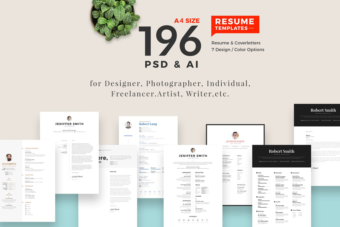 196 Resume Template  Resume Template With Photo
