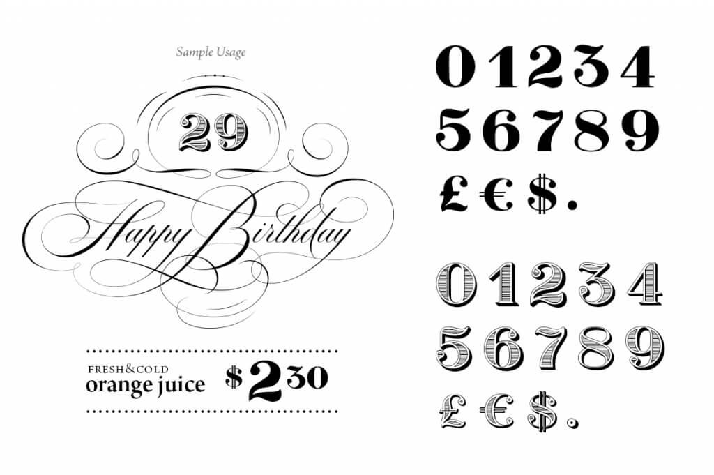 Number fonts 10 stylish examples design shack for Blueprint number
