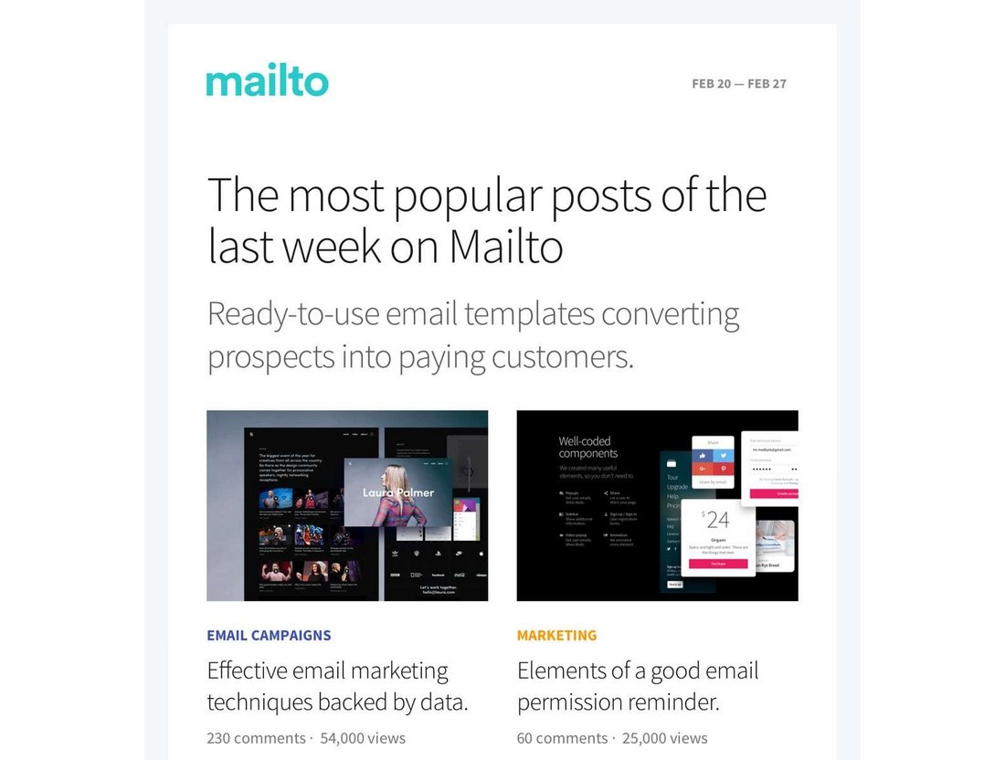 2-Free-Responsive-Email-Templates 40+ Modern Responsive Email Templates 2021 design tips