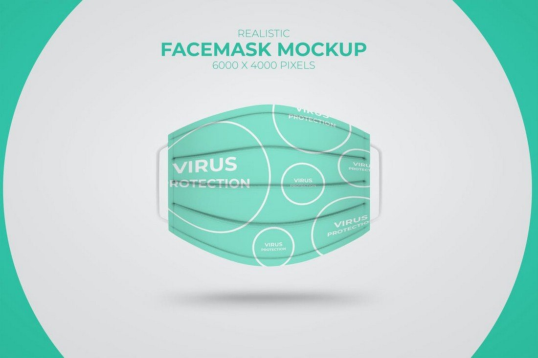 2 Realistic Medical Face Mask Mockups