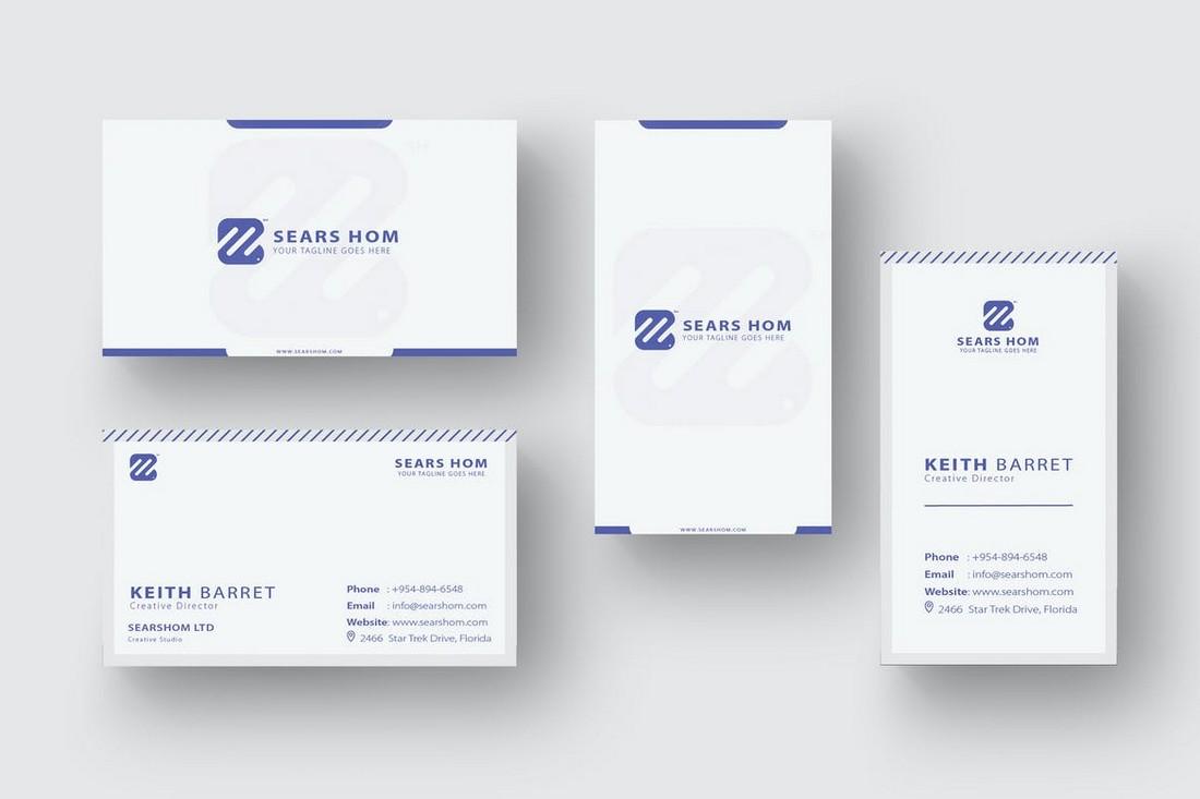 2-in-1 Minimal Business Card Design