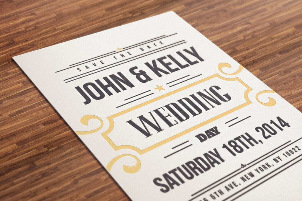 Wedding Invitation Template Illustrator purplemoonco