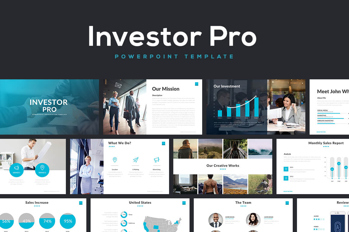 20 best new powerpoint templates of 2016 design shack investor pro powerpoint template toneelgroepblik Choice Image