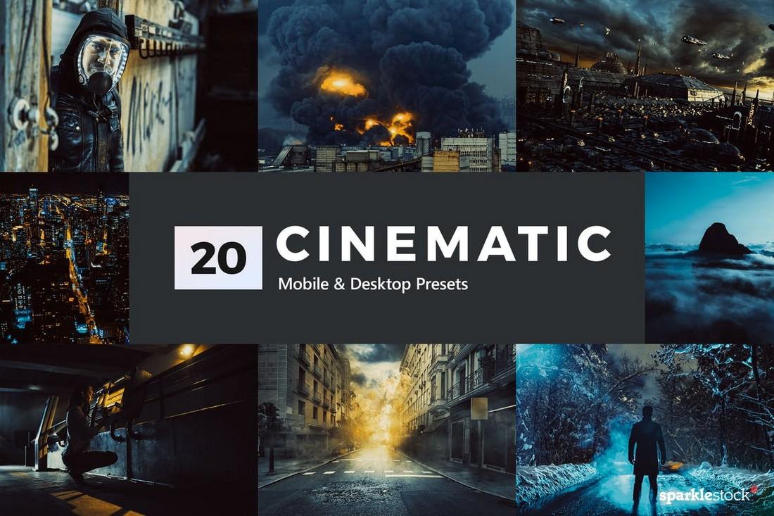 20 Cinematic LUTs & Lightroom Presets