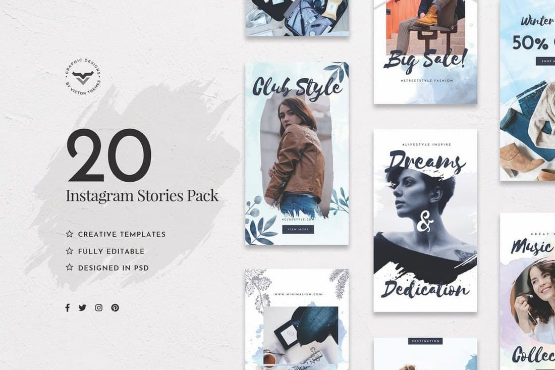 20 Creative Instagram Stories Templates