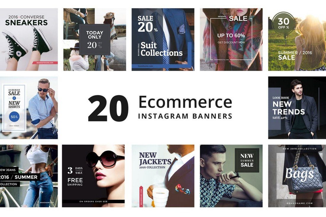 20-ECommerce-Instagram-Promotional-Banners 30+ Best Instagram Templates & Banners design tips